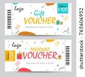 creative discount voucher  gift ... | Shutterstock .eps vector #765606952
