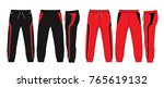 sport sweatpants set. | Shutterstock .eps vector #765619132