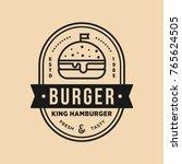 burger vintage premium quality... | Shutterstock .eps vector #765624505