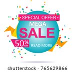 sale colorful banner label... | Shutterstock .eps vector #765629866