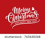 merry christmas vector text... | Shutterstock .eps vector #765630268