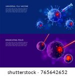 a set of semi realistic... | Shutterstock .eps vector #765642652