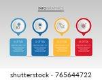 modern info graphic template... | Shutterstock .eps vector #765644722