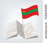 transnistria flag with metal... | Shutterstock .eps vector #765645385