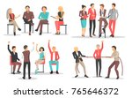 people at business training... | Shutterstock .eps vector #765646372