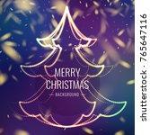 merry christmas. bright poster...   Shutterstock .eps vector #765647116
