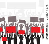 people on demonstration... | Shutterstock .eps vector #765647176