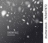 vector realistic snowflake... | Shutterstock .eps vector #765647872