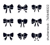 bow vector collection | Shutterstock .eps vector #765648322