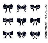bow vector collection | Shutterstock .eps vector #765648322