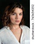 portraite of young  beautiful... | Shutterstock . vector #765654352