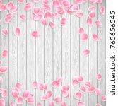 Realistic Sakura Petals On A...