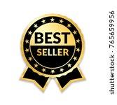 ribbon award best seller. gold...   Shutterstock . vector #765659956