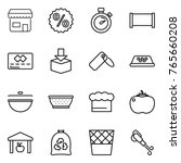 thin line icon set   shop ... | Shutterstock .eps vector #765660208