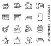 thin line icon set   japanese...   Shutterstock .eps vector #765660256