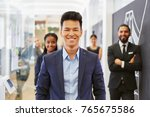 asian man as ceo in business... | Shutterstock . vector #765675586