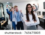group picture of business team... | Shutterstock . vector #765675805