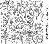 big set of christmas design... | Shutterstock .eps vector #765677518