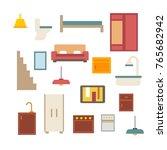 house furniture vector | Shutterstock .eps vector #765682942