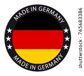 made in germany button | Shutterstock .eps vector #765683386