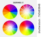 set of various color wheels... | Shutterstock .eps vector #765683848