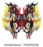 tribal colorful fantastic...   Shutterstock .eps vector #765692026
