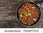 bolognese sauce   hot juicy... | Shutterstock . vector #765697315