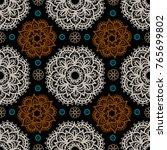 seamless pattern. ethnic... | Shutterstock . vector #765699802