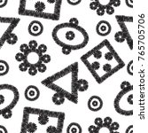tribal embroidery. vector... | Shutterstock .eps vector #765705706