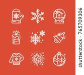 christmas icons set | Shutterstock .eps vector #765709306