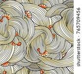 spagetti shrimp seamless... | Shutterstock . vector #765709456