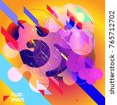 fluid color background. liquid... | Shutterstock .eps vector #765712702