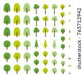 vector green forest set.... | Shutterstock .eps vector #765712942