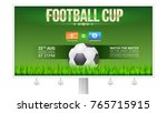 european football  soccer cup... | Shutterstock .eps vector #765715915