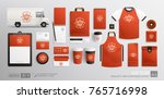 red corporate brand identity... | Shutterstock .eps vector #765716998