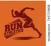 running and marathon logo vector | Shutterstock .eps vector #765723808