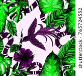 fashion print. watercolor... | Shutterstock . vector #765724552