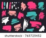 grunge brush stroke set   Shutterstock .eps vector #765725452