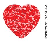 valentines day heart made of...   Shutterstock .eps vector #765733465