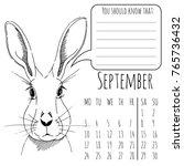 calendar reminder for september ...   Shutterstock .eps vector #765736432