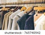 fashion trend concept. warm... | Shutterstock . vector #765740542