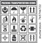 packing transportation icons | Shutterstock .eps vector #765746722