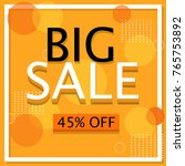 big sale banner  poster  flyer. ... | Shutterstock .eps vector #765753892
