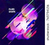 fluid color background. liquid... | Shutterstock .eps vector #765754156