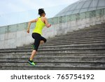 young fitness sporty woman... | Shutterstock . vector #765754192