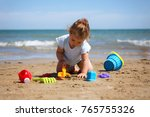 toddler girl playing in the...   Shutterstock . vector #765755326