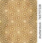 retro brown islam seamless... | Shutterstock .eps vector #765757228