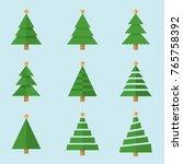vector christmas tree | Shutterstock .eps vector #765758392