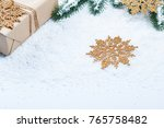 christmas background with gift  ... | Shutterstock . vector #765758482
