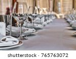 banquet hall in the restaurant. ... | Shutterstock . vector #765763072